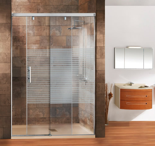 Mamparas de ducha corredera cristal cobra aluminios - Mamparas ducha correderas ...