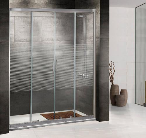 Mamparas de ducha corredera cristal corona aluminios - Mamparas de pvc ...