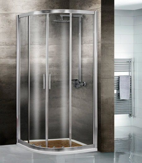 Mamparas de ducha corredera cristal corona aluminios - Mampara ducha madrid ...